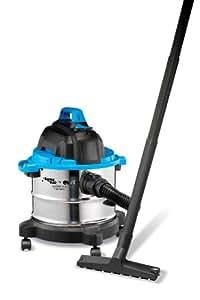 AquaVac Boxter 15 S Drum vacuum cleaner 15L 1100W Black,Blue,Stainless steel - vacuums (Drum vacuum, Dry&Wet, Professional, Carpet, Hard floor, Black, Blue, Stainless steel)