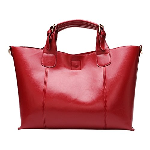 Mena UK Borse da donna borse e borse da donna Borsa da donna in pelle grande ( Colore : Vino rosso , dimensioni : 35cm*14cm*25cm ) Vino rosso