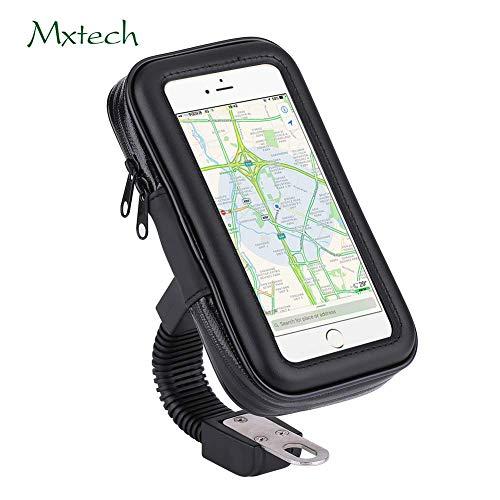 Motorrad Fahrrad Handyhalterung,Acouto Regentag Wasserdicht Handyhalter für GPS iPhone X/8 /Samsung s7 edge andere bis zu 6.3 Zoll Smartphone (M)