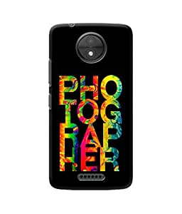 Be Awara Photographer Printed Back Case Cover for Moto C