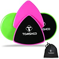 TOMSHOO Pack of 4 Gliding Discs Set Dual Sided Fitness Exercise Sliders Core Training Workout Sliding Discs
