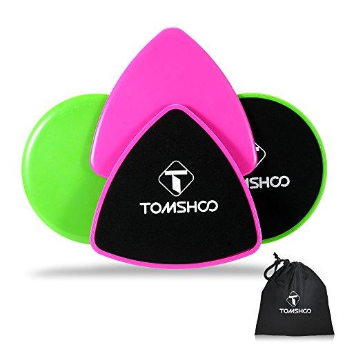 TOMSHOO 4PCS Gliding Discs Set Dischi Scorrevoli per Esercizi Addominali