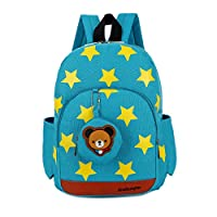 Xinyanmy Stars Pattern Kids Backpack with Cute Bear Coin Purse Best Gift for 3-5 Years Old Nursery Toddler Kindergarten Boys and Girls