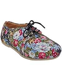 Beanz Lily Black Floral/Beige Shoes For Girls