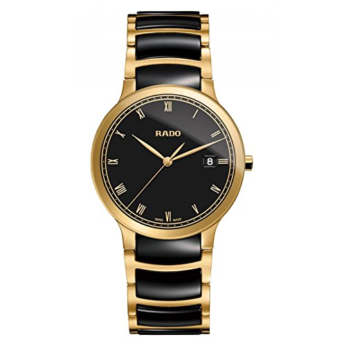 RADO MEN'S CENTRIX 38MM GOLD PLATED BRACELET & CASE QUARTZ WATCH R30527152