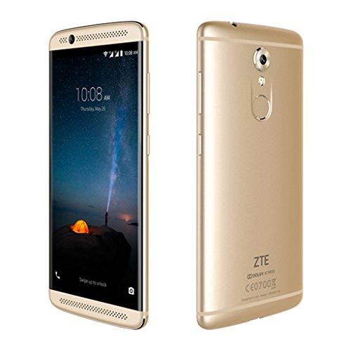 "ZTE AXON 7 Mini - 4G LTE Smartphone Libre Android 6.0 (Pantalla FHD 5.2"", Snapdragon MSM8952 Octa Core, 3Gb Ram, 32Gb, 16MP Cámara, Hifi, NFC, Huella Dactilar, Carga Rápida, Dual SIM) (Dorado)"