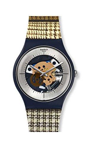 Orologio Swatch New Gent SUON129 Al quarzo (batteria) Plastica Quandrante Trasparente Cinturino Silicone
