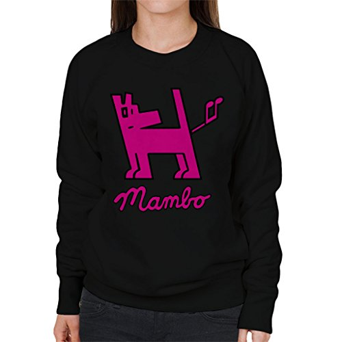 Mambo Dog Nut Pink Women's Sweatshirt Black