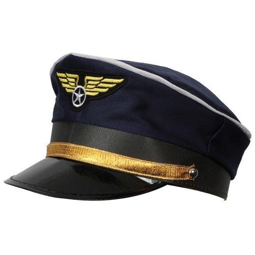 Fluggesellschaft Piloten KAPPE-Set mit Zubehör für den Fancy Dress, (Airline Kostüme Pilot)