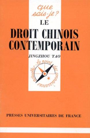 Le droit chinois contemporain