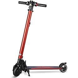PARTU Elektro Scooter Höchstgeschwindigkeit bis 27 km/h Elektroroller mit 5.2 AH Batterie Faltbar & Höheneinstellbar E-Scooter für Jugendliche und Erwachsene