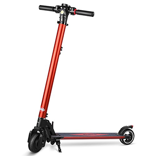 Partu Electric Scooter Height Adjustable E-Scooter for Adult with 5.2 AH LG Battery - Max Speed up to 27 Km/h (2018 Newly) Test