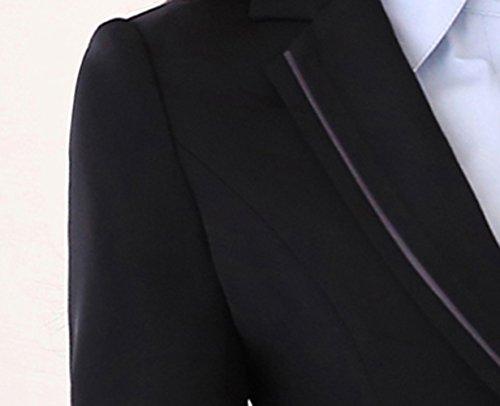 Icegrey Femmes Costume Manteau Jupe De Bureau Travail Blazer Revers Bouton Costume Veste Costume Deux Pièces Noir
