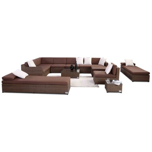 Nikkigarden Sofa Set Santa Monica mixed hellbraun