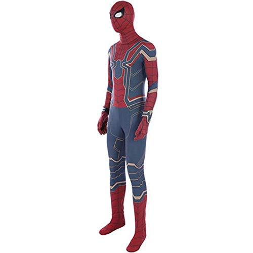 gikmhyb Rubie's Official Avengers Eisenspinne, Spiderman Classic Kinderkostüm Overall Onesies Druck Hoodie Halloween Kostüm Party Film Prop Superheld,X-Large