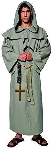 Erwachsene Kostüm Friar Tuck Für - Herren Friar Tuck Mönch religiös mittelalterlich historisch Robin Hood TV Film Kostüm Kleid Outfit