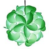 RayLineDo ® DIY Party Dekorations Puzzle Lampenschirm–Puzzle Lampenschirm Deckenlampe, Lampenschirm, Selbstmontage Durchmesser 30cm violett grün