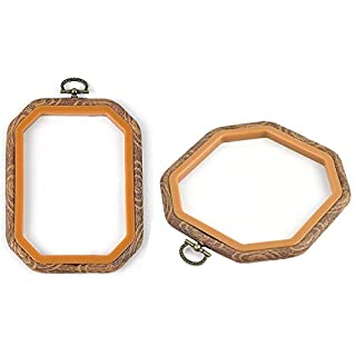 SODIAL Embroidery Hoops Cross Stitch Hoop Embroidery Circle Set for Art Craft Handy Sewing Octagon