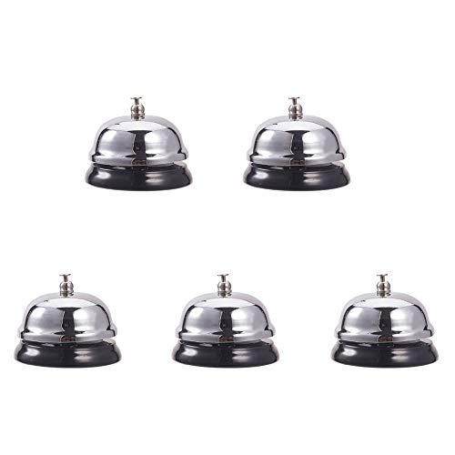 WANDIC Anrufglocke, 5er-Pack, Kundenservice-Glocke, Tischglocke, Bellhop-Glocke für Büro, Hotel, Empfangsbereiche, Schule, Krankenhäuser, Restaurants Hotel Abendessen