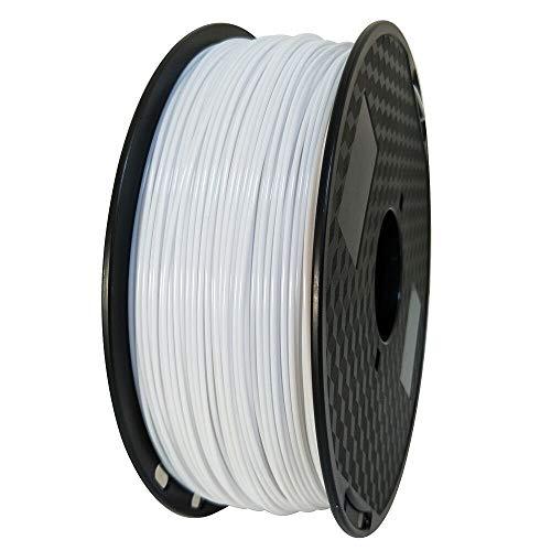 OMAS ASA Filamento 1.75mm Blanco 3D Impresora Filamento 1kg Carrete 2.2 LBS Resistente a los rayos UV