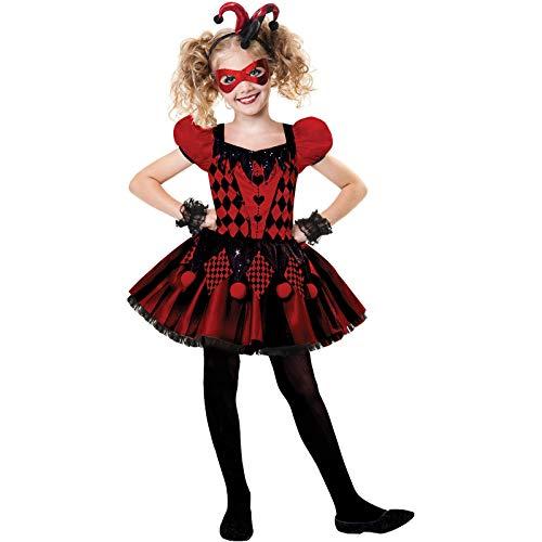 Amscan Süßer Harlekin - Narr Halloween Kostüm Kinder Mädchen (Narr Kinder Kostüme)