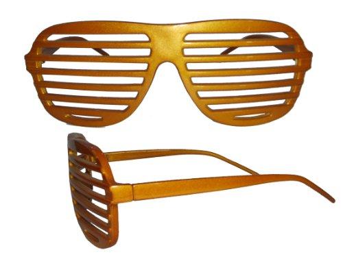 Komonee Gold Verschluss Schattierungen Spaß Neuheit Kunststoff Party Sonnenbrille