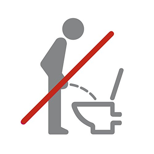 Wandora Wandtattoo WC Piktogramm im Sitzen pinkeln I dunkelgrau (BxH) 11 x 12 cm I Bad Badezimmer Toilette Sticker Aufkleber Wandaufkleber Wandsticker G032