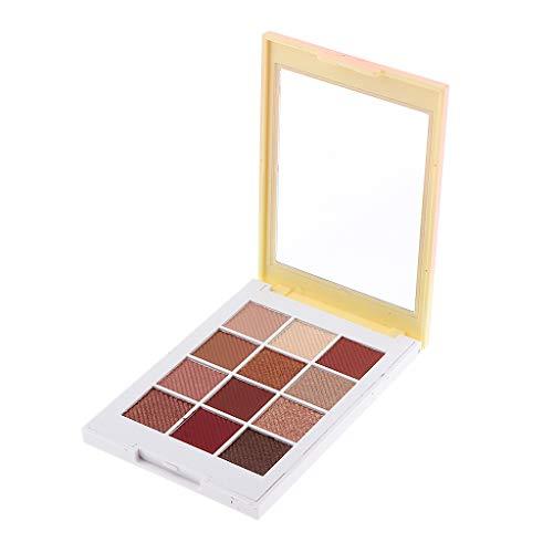 Fenteer Palette Eye Shadow Maquillage Cosmétique Shimmer Matte Fard à Paupières Palette Professionnel pour yeux Portable Maquillage des Yeux - #11 12 couleurs