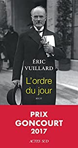 L'ordre du jour - Prix Goncourt 2017
