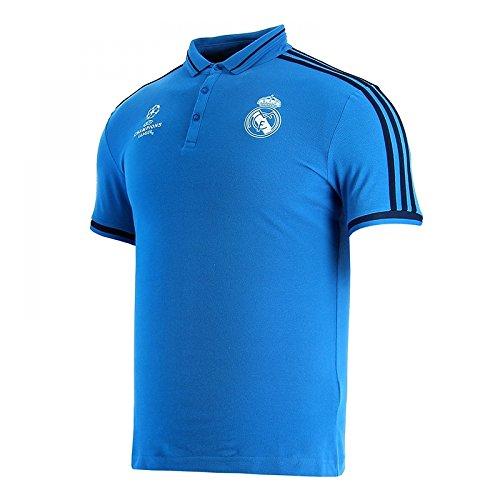 adidas Real EU Polo - Camiseta para hombre, color azul marino / azul / blanco, talla XS