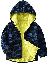 Vine Bebé Chaquetas polar Abrigos con Capucha Niños Niñas Chaquetas Deportivas Fleece Trajes Reversible Ropa de