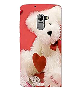 PrintDhaba Teddy with Heart D-1004 Back Case Cover for LENOVO VIBE K4 NOTE (Multi-Coloured)
