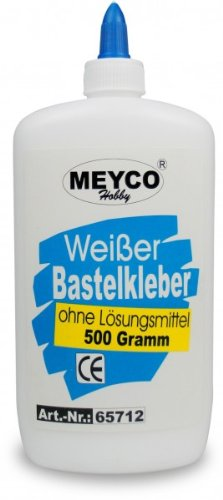 Weisser Meyco Bastelkleber 500 g, ohne Lösungsmittel