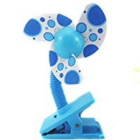 MiYan Baby Clip-On Mini Stroller Fan BLUE