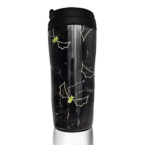 Travel Coffee Mug Night Bats 12 Oz Spill Proof Flip Lid Water Bottle Environmental Protection Material ABS