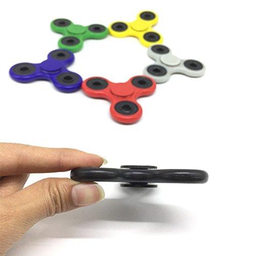 U-MISS Tri Fidget Hand Spinner/Cuscinetti Ultra Veloce/Giocattolo Fantastico Regalo – Perfetto per Alleviare Stress e Come Passatempo.(Nero) - 5