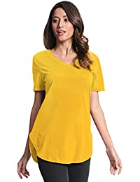 Amazon.co.uk: Yellow - Blouses & Shirts / Women: Clothing