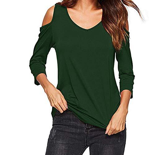 Somesun donne camicetta a maniche lunghe con scollo v manica lunga casual allentata top bottoni in tinta unita prime eleganti cotone lino maglietta cappotti invernali lunghi vintage