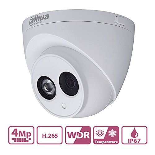 Dahua New POE IP Camera IPC-HDW4433C-A 4MP With Built-in Mic Replace IPC-HDW4431C-A with Better Night Vision H.265 HD IR Mini Dome, IP67 2.8mm Lens, IR 50m Day and Night ,ONVIF, International Version