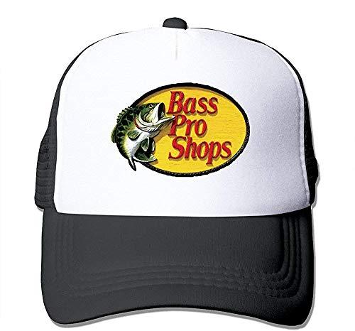 Huseki Unisex Bass Pro Shops Logo Classic Mesh Back Trucker Cap Hat Black -