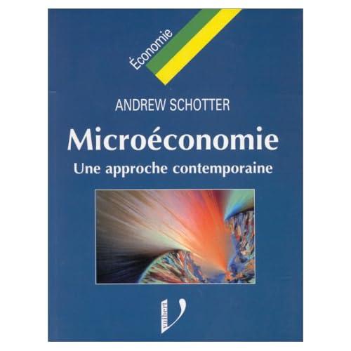 Microéconomie une approche contemporaine