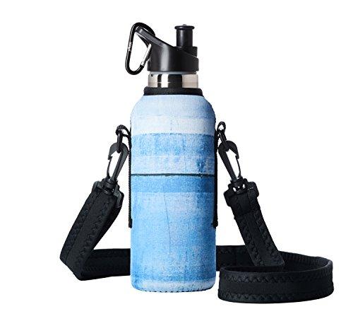 BBBYO Neopren-Isoliertasche für Wasserflasche, für Hydroflask - passend für 530 ml und 600 ml große Hydroflask Stahlflaschen. Flasche Nicht im Lieferumfang enthalten, Saturn, 18oz/530ml