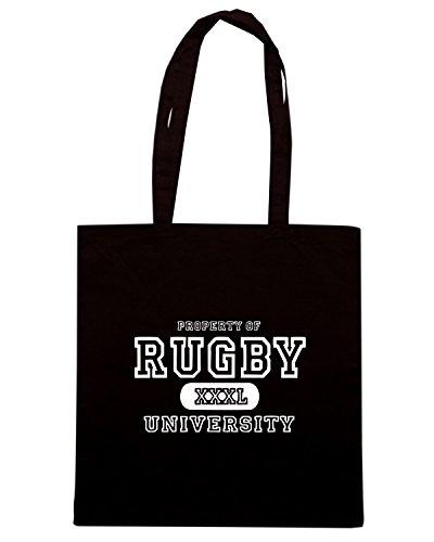 T-Shirtshock - Borsa Shopping TRUG0144 rugby university logo Nero