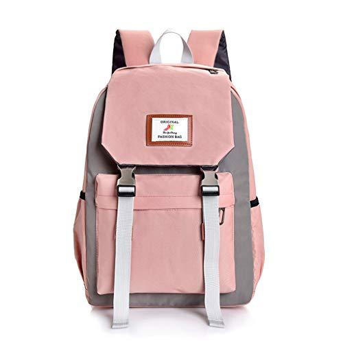 Calvinbi Frauen Rucksack mit großem Fassungsvermögen Studentenrucksack Reiserucksack Umhängetasche diagonal Paket geeignet für Reisen Party Work School -