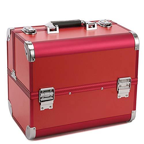 Professional boîte à outils portable multi-couche grande capacité cosmétique case Tattoo Special Box,Red