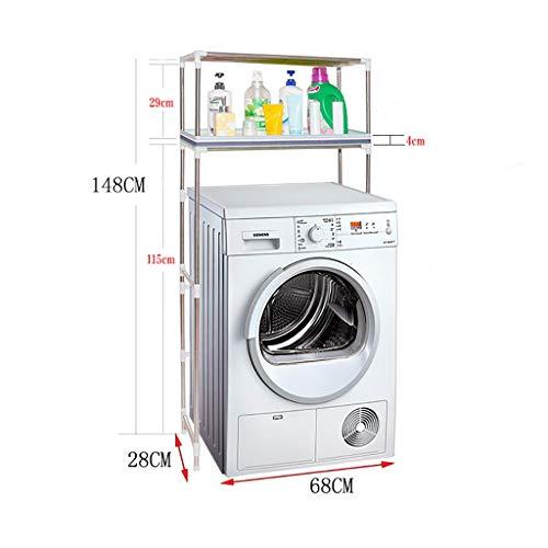 Waschmaschine Regal Trommelwaschmaschinenständer, Edelstahlwaschmaschinenständer, Bodenbadezimmerständer, mehrschichtiger Badezimmerständer, EIN guter Helfer für die Fertigstellung des Badezimmers (Regal Helfer)