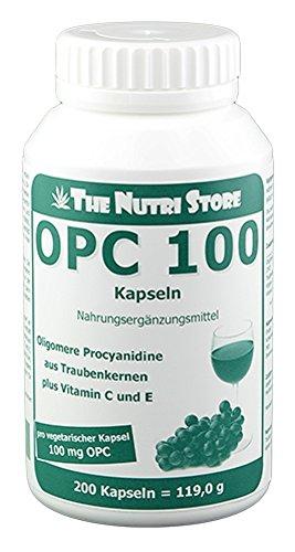Herz-gesundheit Vegetarische Kapseln (OPC 100 mg vegetarische Kapseln 200 Stk - Oligomere Procyanidine aus Traubenkernen plus Vitamin C und E - gegen freie Radikale)