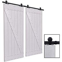 CCJH 6FT-183cm Herraje para Puertas Kit de Accesorios para Puerta Correderas Juego de Armarios