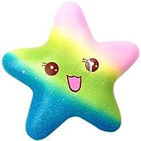 Fossen Arco iris Estrella Squishy Kawaii Suave Jumbo Perfumado Olor Squishy Slow Rising Juguetes compresivos