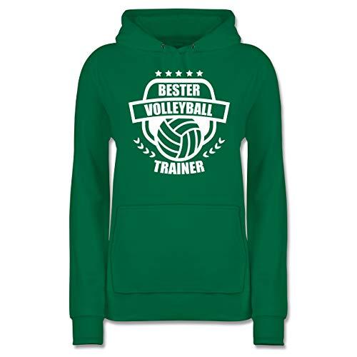 Volleyball - Bester Volleyball Trainer - M - Grün - JH001F - Damen Hoodie